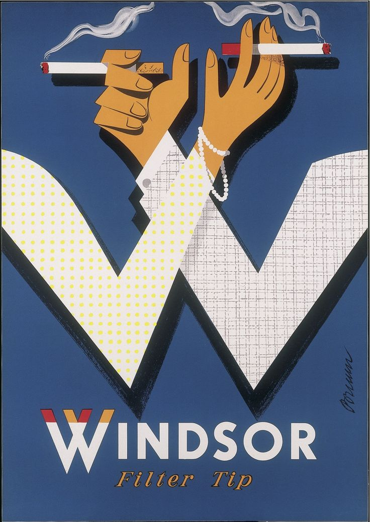 Windsor cigarettes by Erik Bruun 1960s