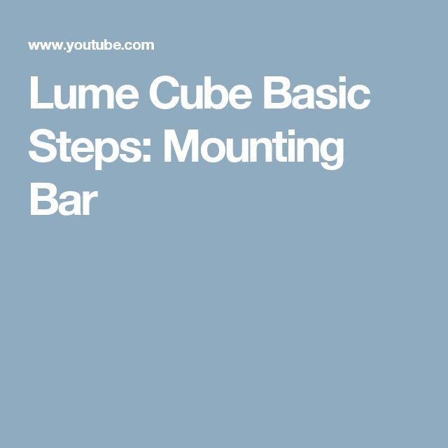 Lume Cube Basic Steps: Mounting Bar