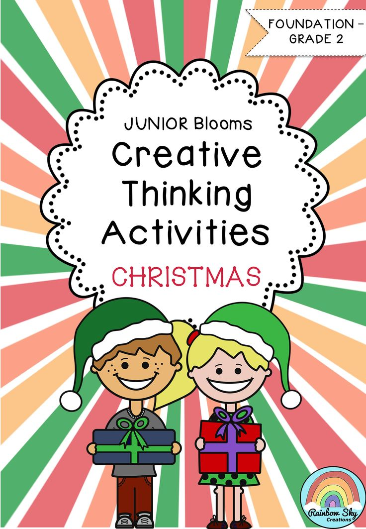 Junior Blooms Creative thinking Activities all about Christmas. Task cards and BLMs to support 18 open-ended tasks. Suitable for K to Grade 2. ~ Rainbow Sky Creations ~