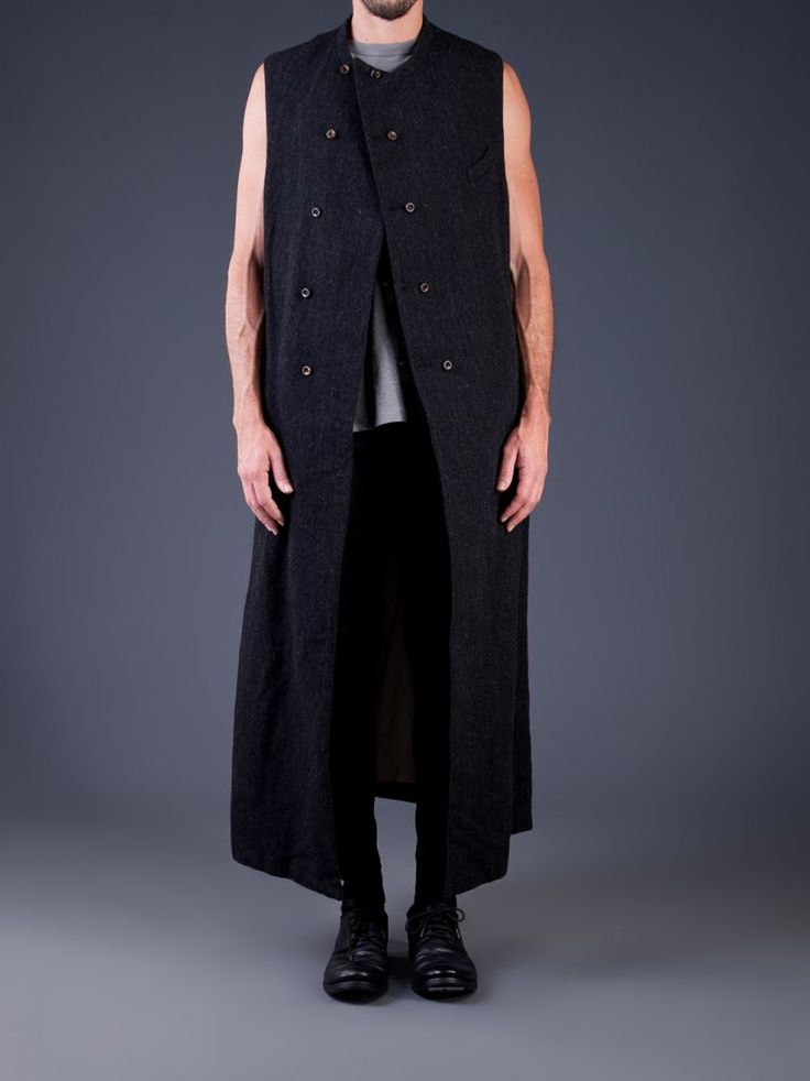 ZIGGY CHEN - Wool Linen Sleeveless Long Coat