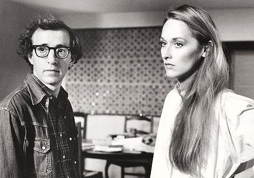 Woody Allen & Meryl Streep on the set of Manhattan,1979