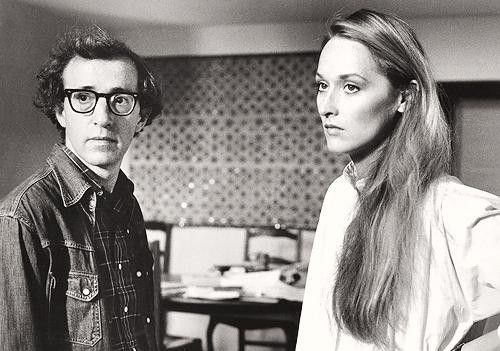 Woody Allen & Meryl Streep on the set of Manhattan, 1979.