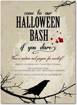 20 best halloween party invitation templates images on pinterest halloween party invitations stopboris Choice Image