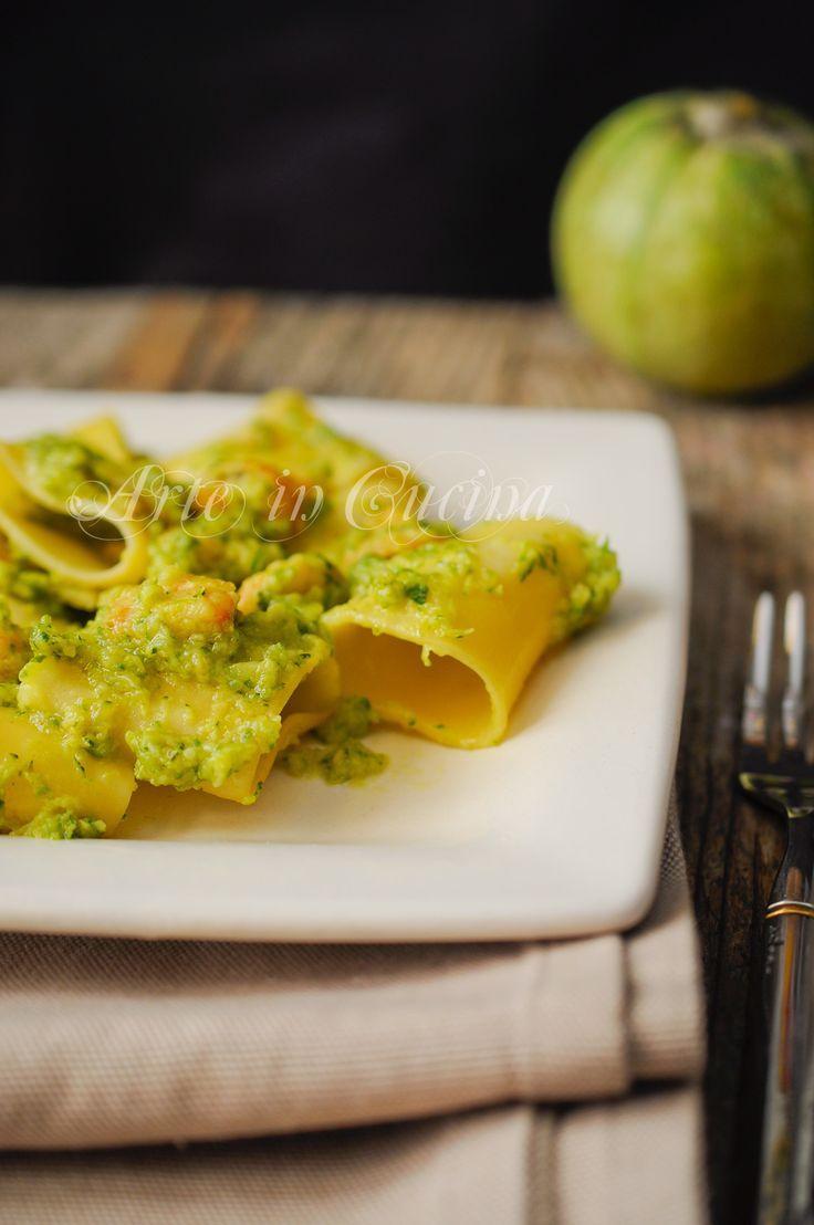 Paccheri con gamberi e zucchine al curry vickyart arte in cucina