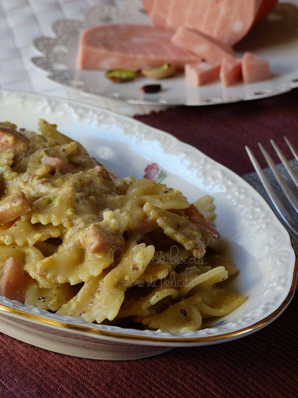 pasta pistacchio e mortadella