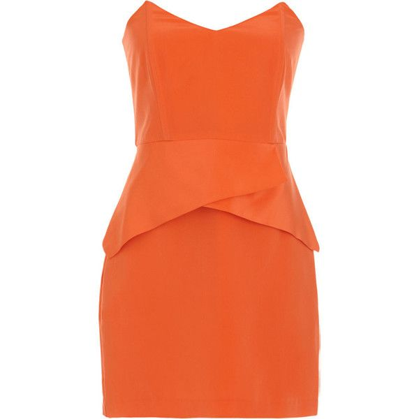 Mason by Michelle Mason Paneled Mini Dress (€210) ❤ liked on Polyvore featuring dresses, vestidos, short dresses, women, mason by michelle mason dress, silk short dress, strapless dress, orange strapless dress and orange dress