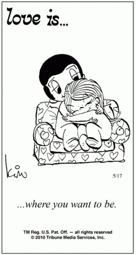 Love Is Cartoons By Kim | 44 Amazing 'Love Is' Comics by Kim Grove | the perfect line