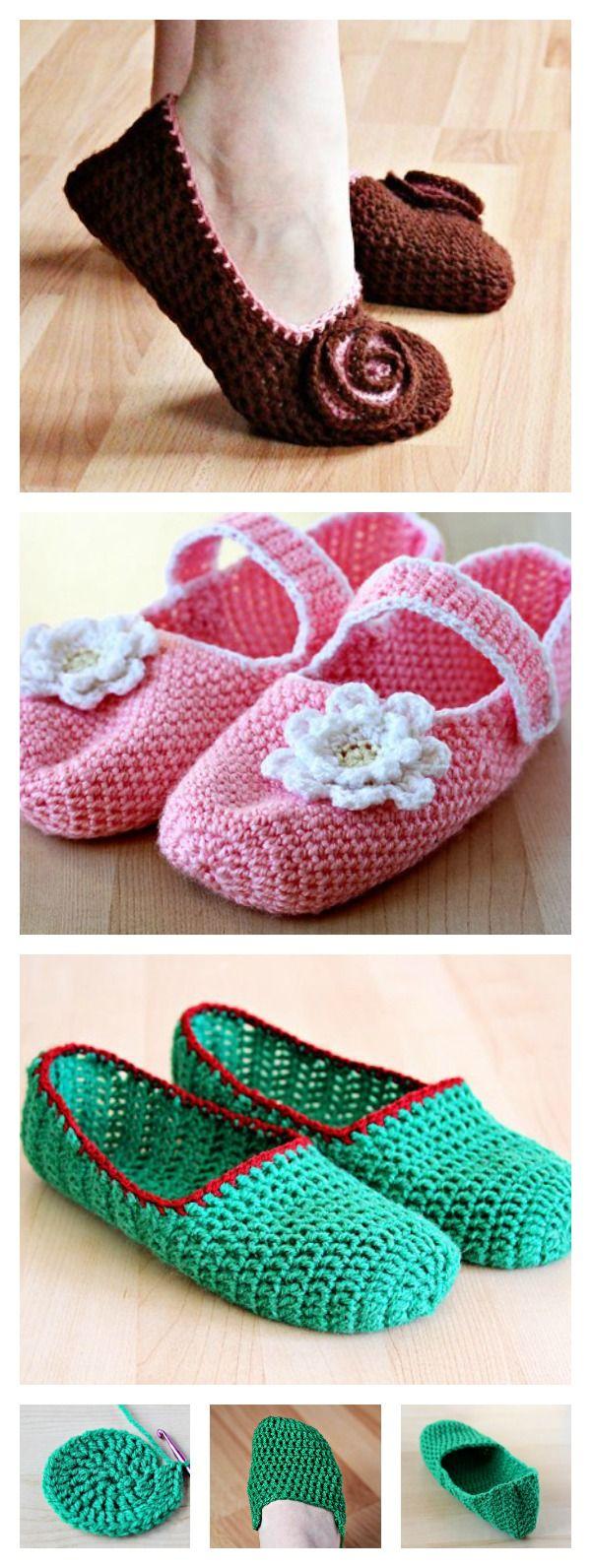 219 best crochet projects slipper n shoes boot cuffs images on simple crochet slippers free pattern bankloansurffo Gallery