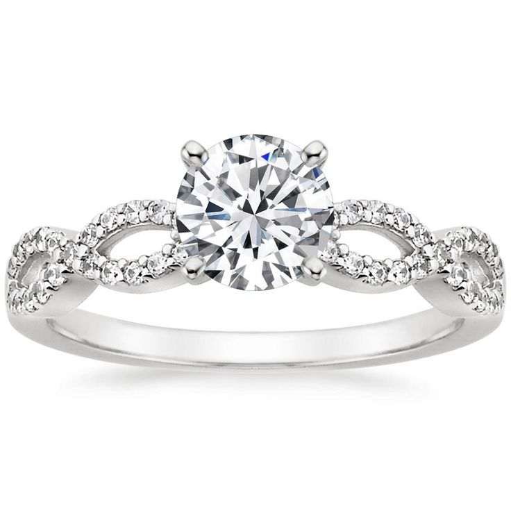 18K White Gold Infinity Diamond Ring from Brilliant Earth