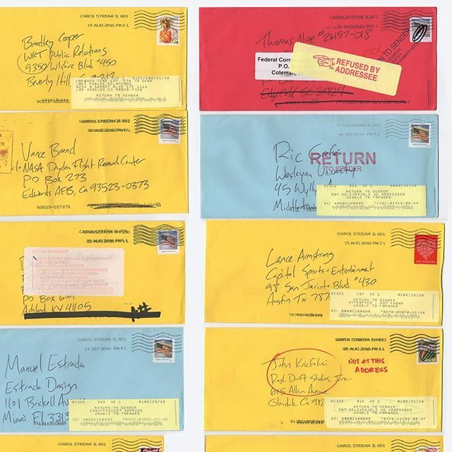 """Noteworthy.Work is a weekly subscription for Chicago Design Museum members that openly wonders """"What is worth preserving? This week, we posted mail that was returned to its sender.⠀ ⠀ ChiDM.com/membership⠀ ⠀"""
