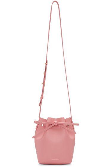 Мансур Гавриэль - Розовая кожа Mini Mini сумка ковша