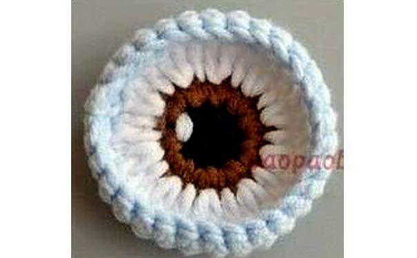 Схема вязания крючком глаз для игрушек