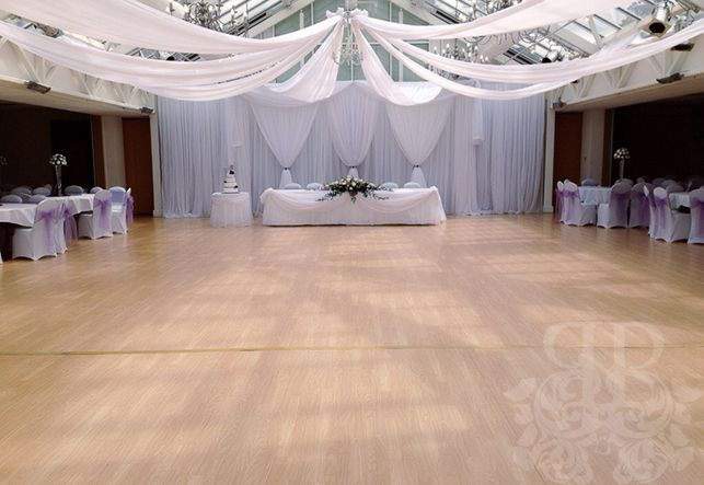 Ceiling canopy draping with Picture Perfect Grecian Backdrop at Manor or Groves, Sawbridgeworth... Fairytale White Wedding. www.pictureperfecteventsuk.com