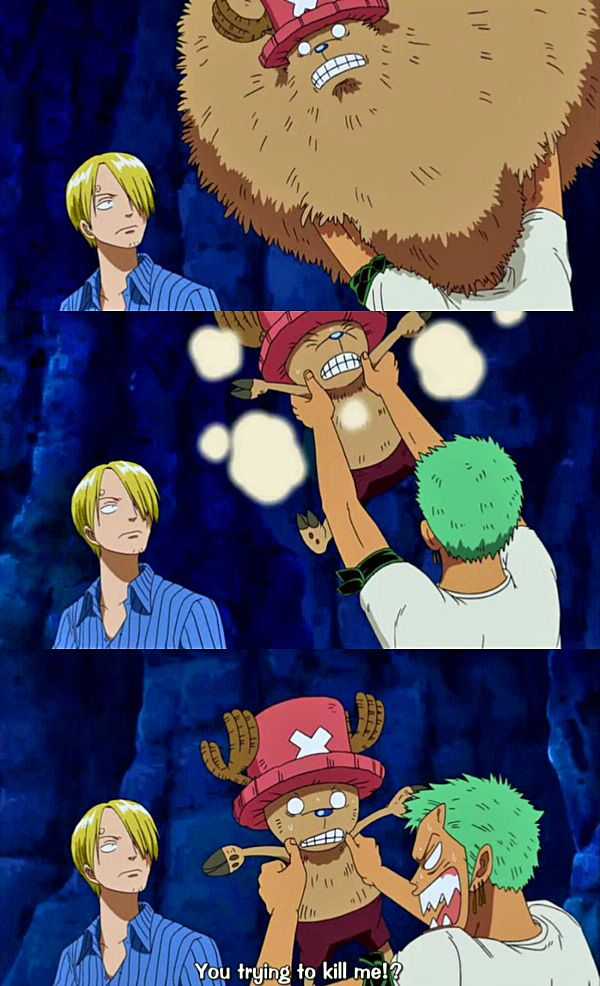 The thing that had my attention most here was Zoro's hair. It looks like mint ice cream! I'm hungry...
