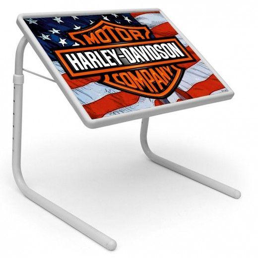 Harley Davidson Table Mate Designer Portable Adjustable Dinner Cum Laptop Tray Table 243