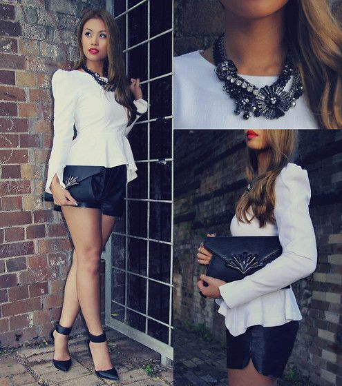 Mimco Necklace, Colette Clutch, Wanted Heels, Sheike Peplum Top
