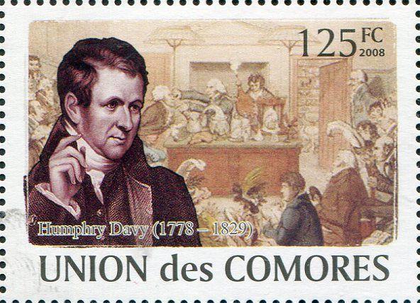 Francobolli Medicina - Personaggi famosi - Medicine Stamps - Famous People Humphry Davy - Comore 2009