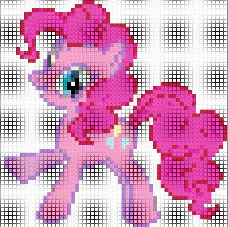 Free my little pony cross stitch | Pinkie Pie Sprite by Bobbeyjazz on deviantART