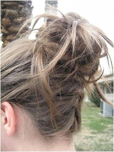 Messy Braided High Bun Updos: Updo Hairstyles for Summer #messyBraided #hairupdos