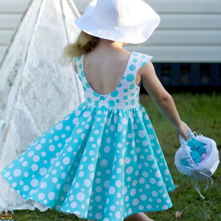 Tea party dress with scoop back