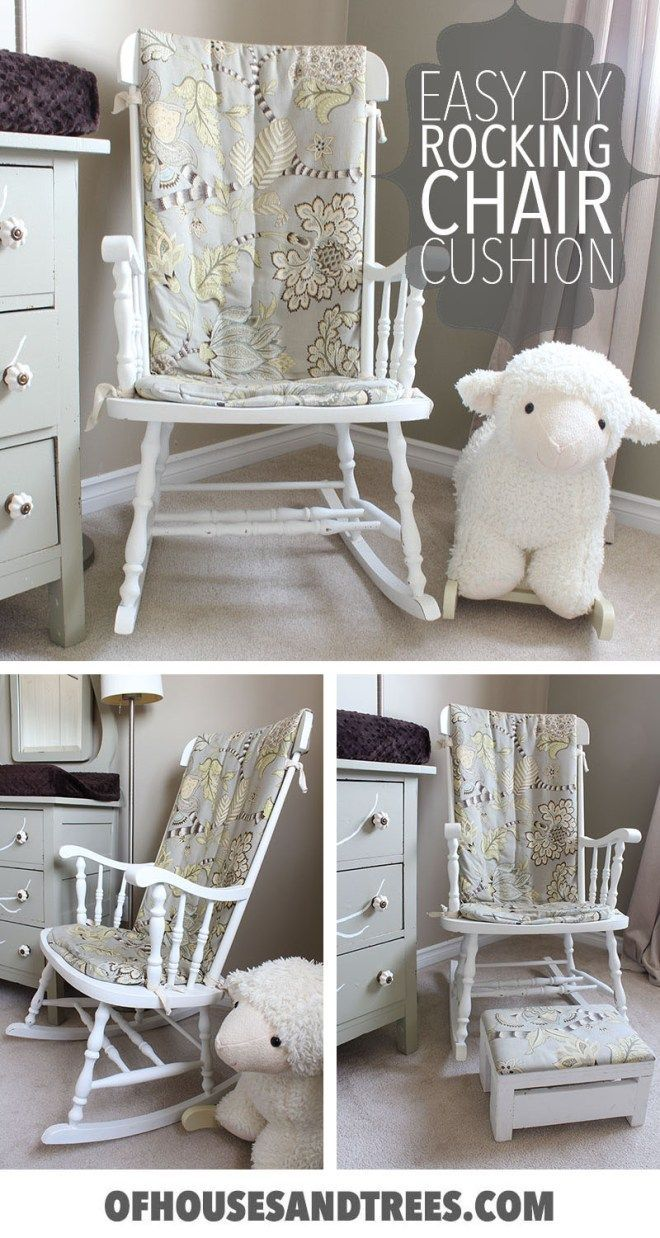 oversized rocking chair cushions discount gold covers prefer an old fashioned wood rocker to glider for your nursery learn how make easy diy cushion out of quilt batting
