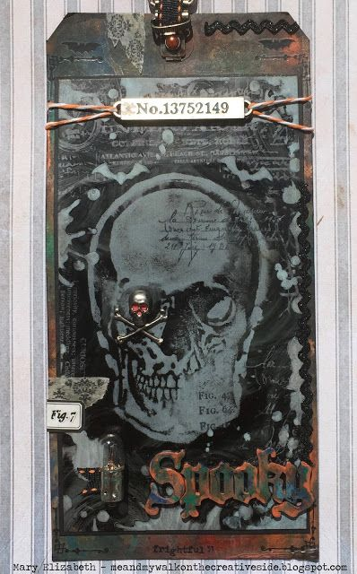 Getting a Little Spooky with Tim ... Holtz 12 Tags of 2016 -- September