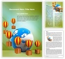 Download Cargo delivery and Globe word template which is High quality, customizable and professionally pre-designed MS Word document layout for 3 pages (DOT format template). It contains built-in heading and text styles with high-quality graphics and images.