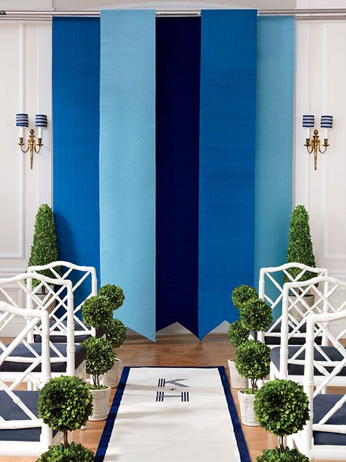 Brides: Striped Ceremony Decorations for Preppy Weddings