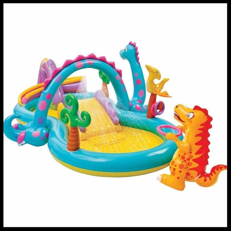Garden Paddling Pool Play Center Inflatable Kids Pool Outdoor Fun  With Sprayer