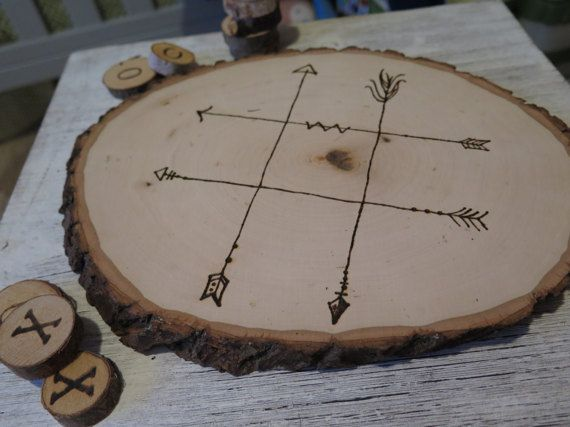 Rustic Tic Tac Toe/ Rustic Games/ Keepsake/ Personalized Game/ Tic Tac Toe/ Wood Slice/ Homemade/ Rustic Decor/Wedding Games/ Table Games