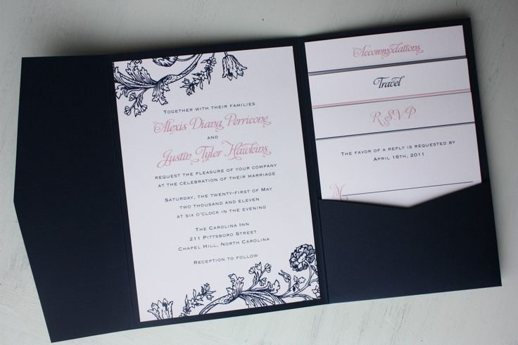 Pink And Navy Blue Wedding Invitations: 17 Best Images About Navy And Pink Wedding Ideas On