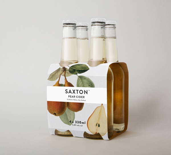 Branding and Packaging: Saxton Cider   BP Logo, Branding, Packaging & Opinion by Richard Baird