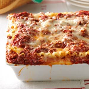 Best Lasagna Recipe from Taste of Home -- shared by Pam Thompson, Girard, Illinois