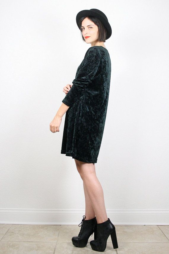 Vintage Grunge Dress 90s Dress 1990s Dress by ShopTwitchVintage