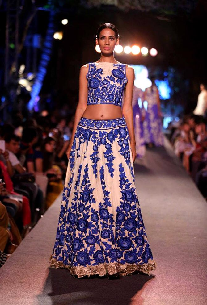 Manish Malhotra lakme fashion week 2015 blue runway