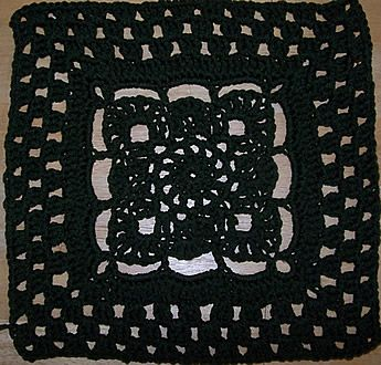 12 or 8 inch crochet square - reminds me of a pattern my grandmother had