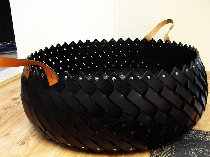 Fur Deco | leather basket