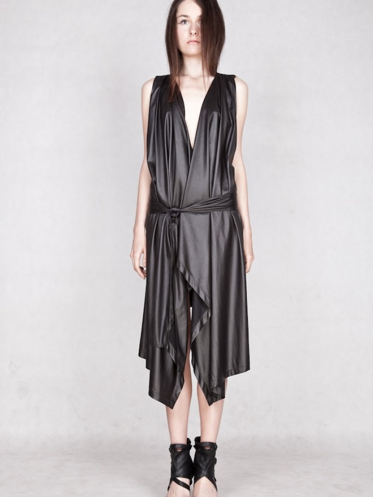 The Black Leather Dress   NOT JUST A LABEL