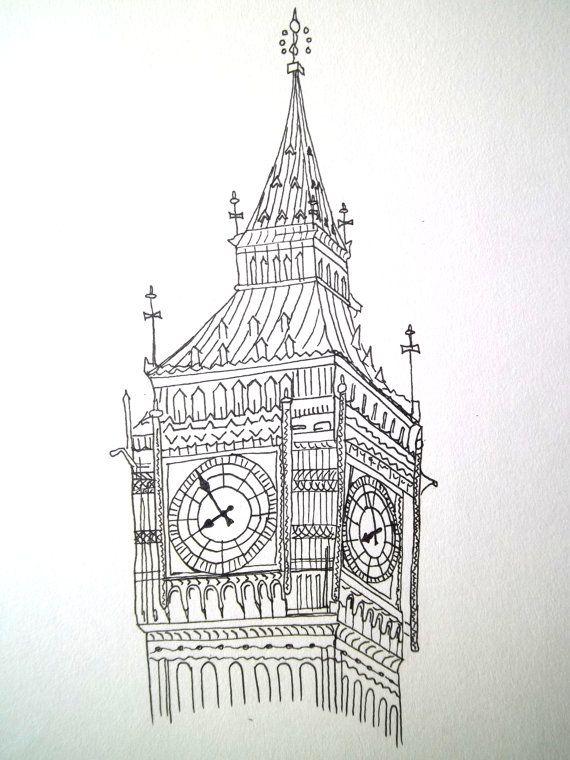 big ben wallpaper drawing - photo #40
