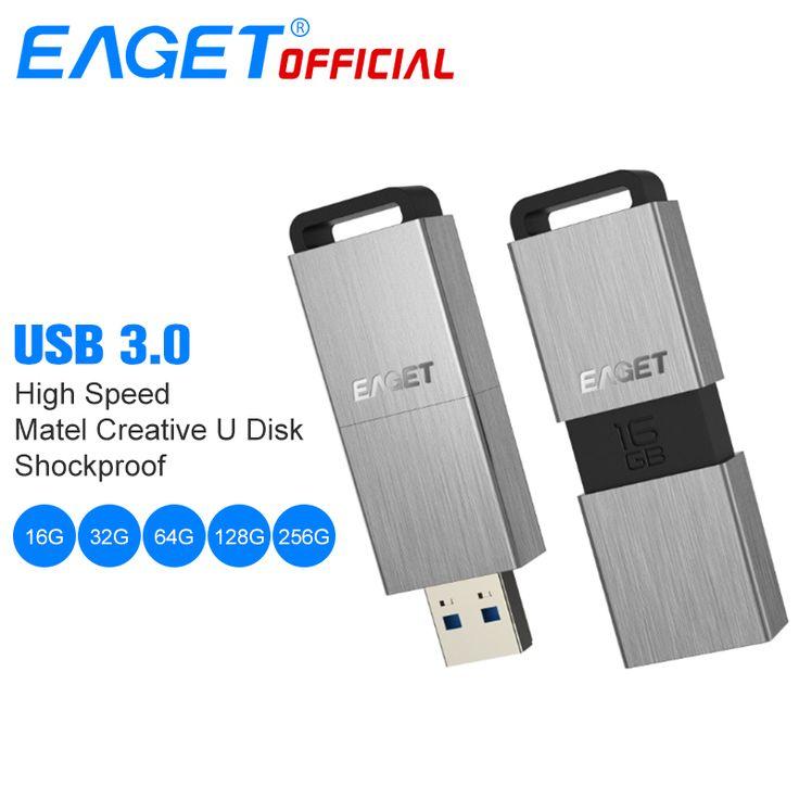 EAGET <b>USB Flash Drive</b> 32GB <b>Pen Drive</b> 64GB Metal Mini <b>USB</b> 3.0 ...