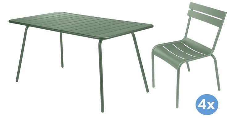 Luxembourg tuinset 143x80 tafel + 4 stoelen (chair) | Fermob