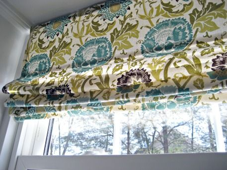 No sew roman shade made from a mini blind!