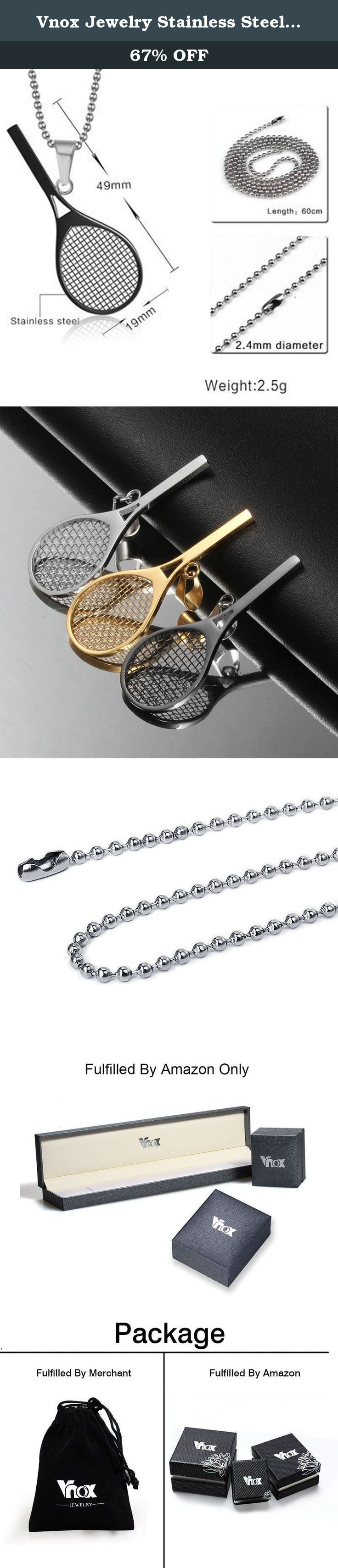 Vnox Jewelry Stainless Steel Tennis Racket Shape Pendant Necklace Perfect Gift for Him or Her,Black. The Vnox Discover the Vnox of elaborate and fashion jewelry. The high-quality jewelry featured in the Vnox offers great values at affordable Price, they mainly made of high quality Stainless Steel,Tungsten,Alloy and Leather. Find a special gift for a loved one or a beautiful piece that complements your personal style with jewelry from the Vnox. Stainless Steel Stainless steel has…