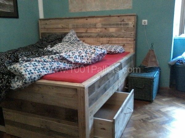 P18 01 14 16.05 600x450 Pallet bed with drawers in pallet bedroom ideas  with pallet Frame Drawers Bed