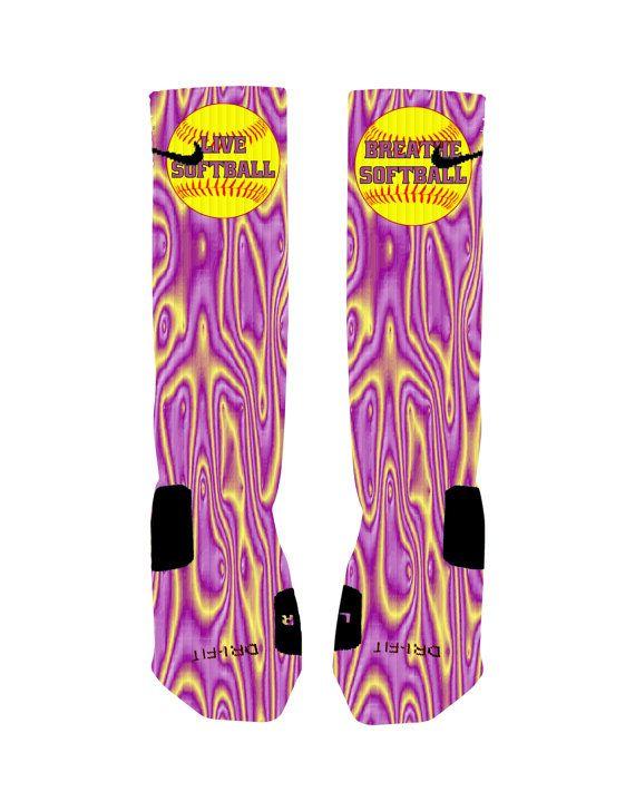 Custom Softball Socks Custom Nike Elite Socks by NikkisNameGifts, $20.00