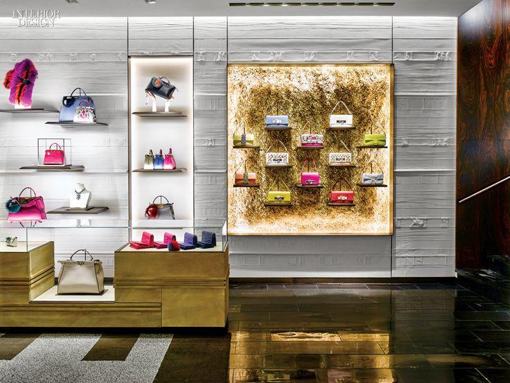 Gesso Coated Strips Of Canvas Clad The Wall In Accessories Salon Retail Interior DesignInterior Design MagazineLuxury InteriorPeter