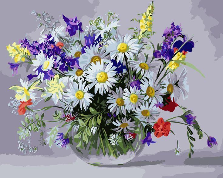 Раскраска для взрослых Вазочка полевых цветов (BRM9890) 40 ...