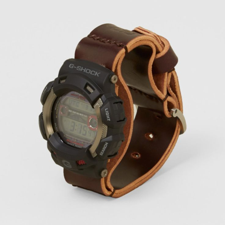 Men's File x Casio G-Shock GW-9110-1ER GULFMAN Cordovan Leather Watch