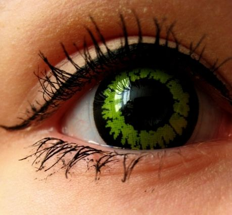 Crazy Piilolinssi -Wolf Black/Green -1 Vuosi | Cybershop