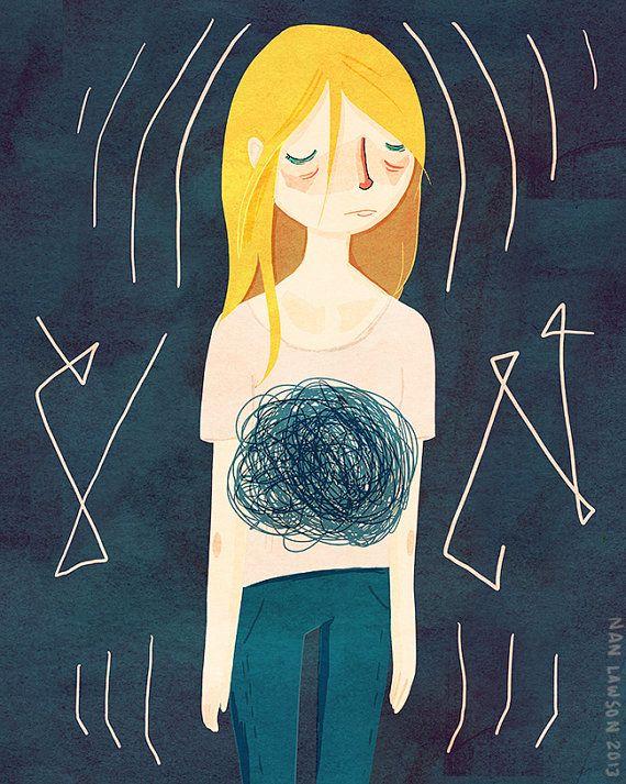 Ansiedad - ilustración impresión by NanLawson